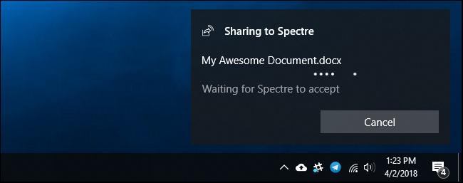 Nola erabili hurbileko partekatzea Windows 10 6