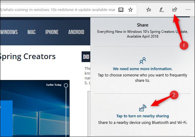 Nola erabili hurbileko partekatzea Windows 10 2