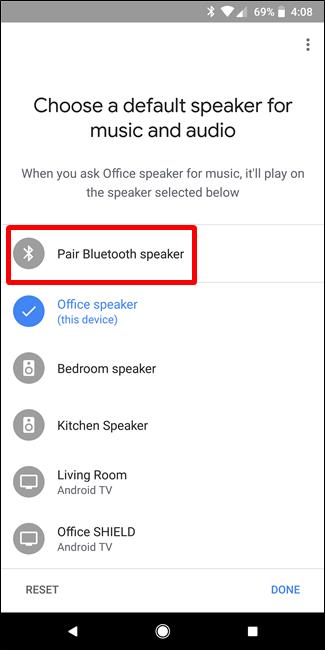 Nola lotu Bluetooth Bozgorailua Google Home-ekin 6