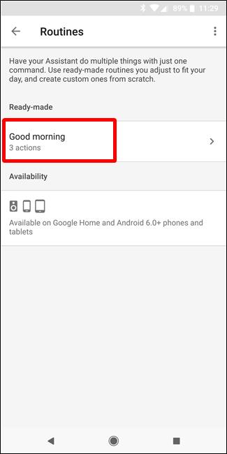 """Nola konfiguratu eta erabili """"errutinak"""" Google Assistant 4"""