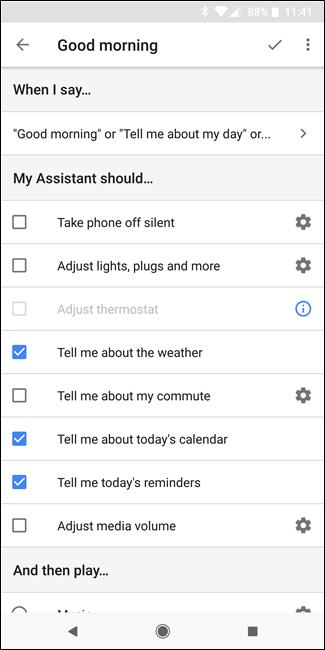 """Nola konfiguratu eta erabili """"errutinak"""" Google Assistant 7"""