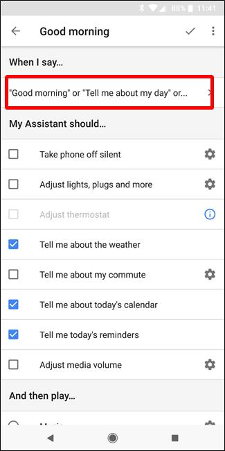 """Nola konfiguratu eta erabili """"errutinak"""" Google Assistant 5"""