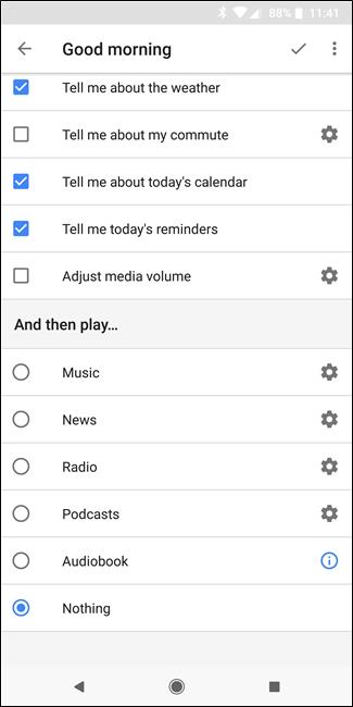 """Nola konfiguratu eta erabili """"errutinak"""" Google Assistant 8"""
