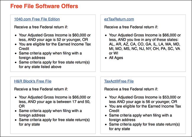 Nola eskuratu TurboTax edo H & amp; R Block doan IRS Free File-ekin 2