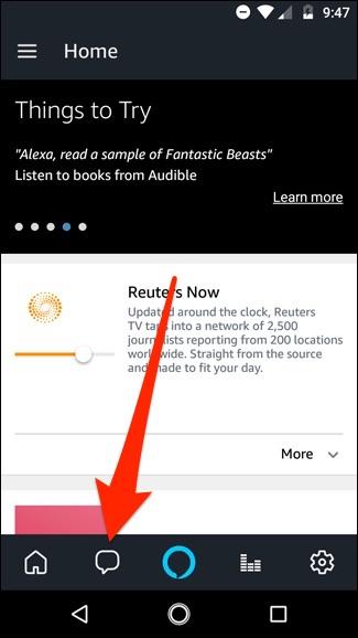 Nola bidali zure mezuak testu-mezuak Amazon Echo 2