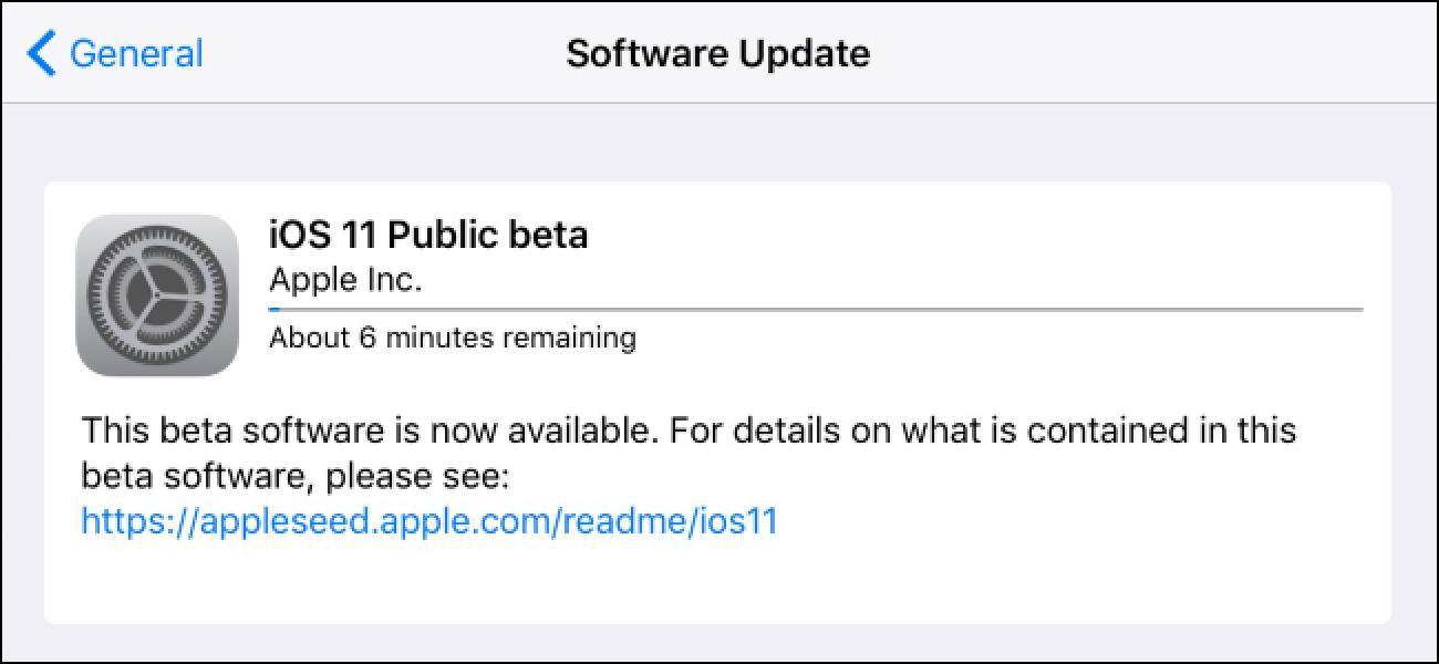 Nola instalatu iOS 11 Beta Zure iPhone edo iPad-en
