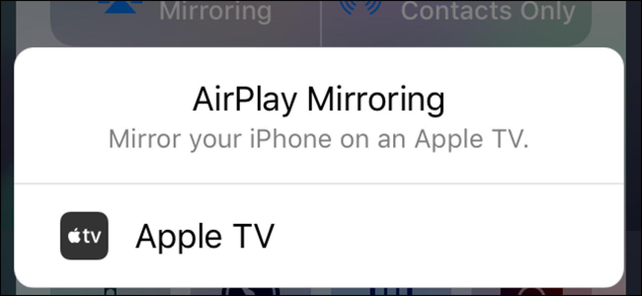 Nola ispilatu zure Mac, iPhone edo iPad pantaila zurean Apple TV