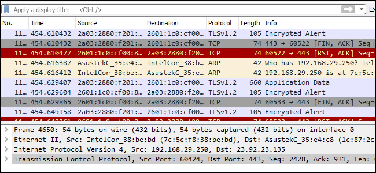 Nola erabili Wireshark Paketeak harrapatu, iragazi eta ikuskatzeko