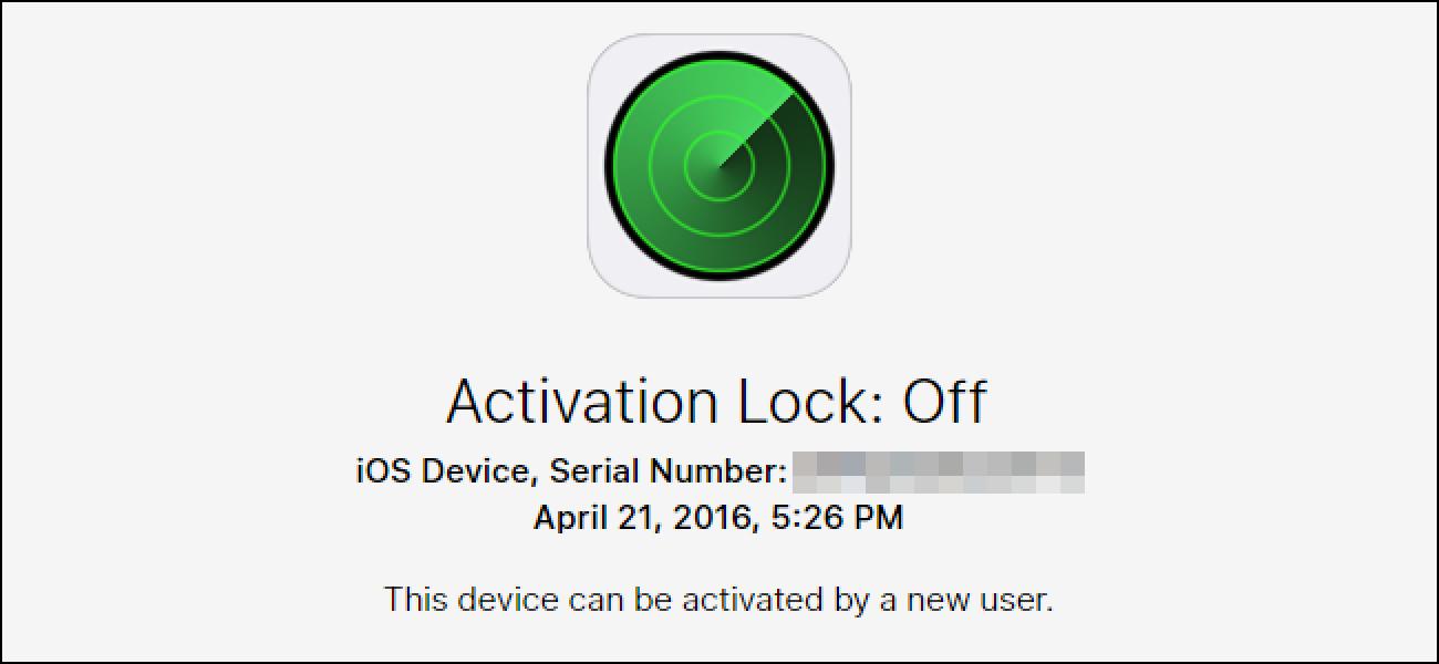 Nola egiaztatu iOS gailu baten aktibazio blokeoaren egoera