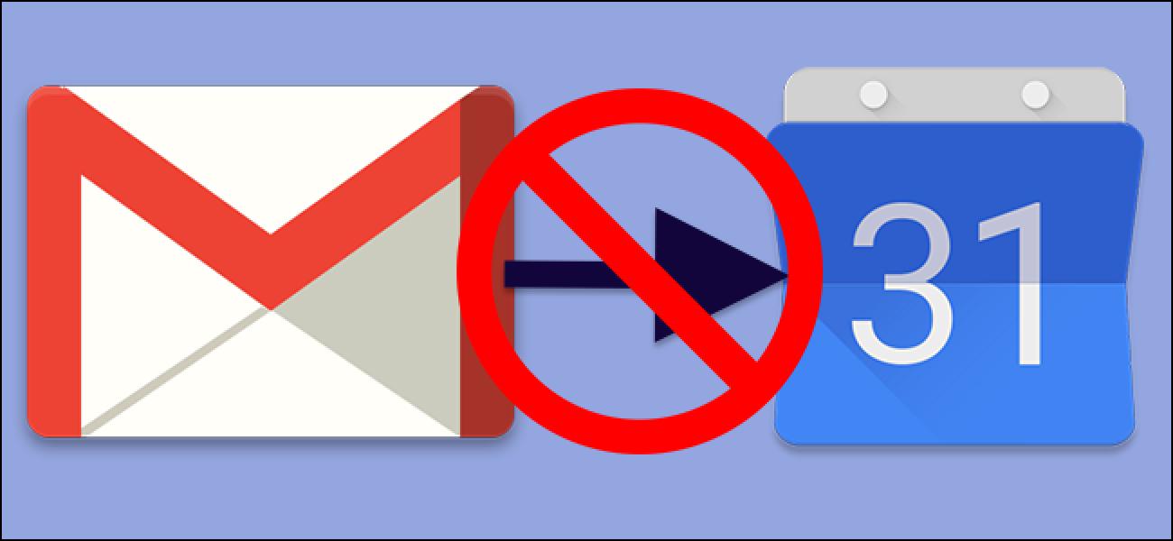 Nola gelditu Gmail Google Calendar-en gertaerak gehitzea