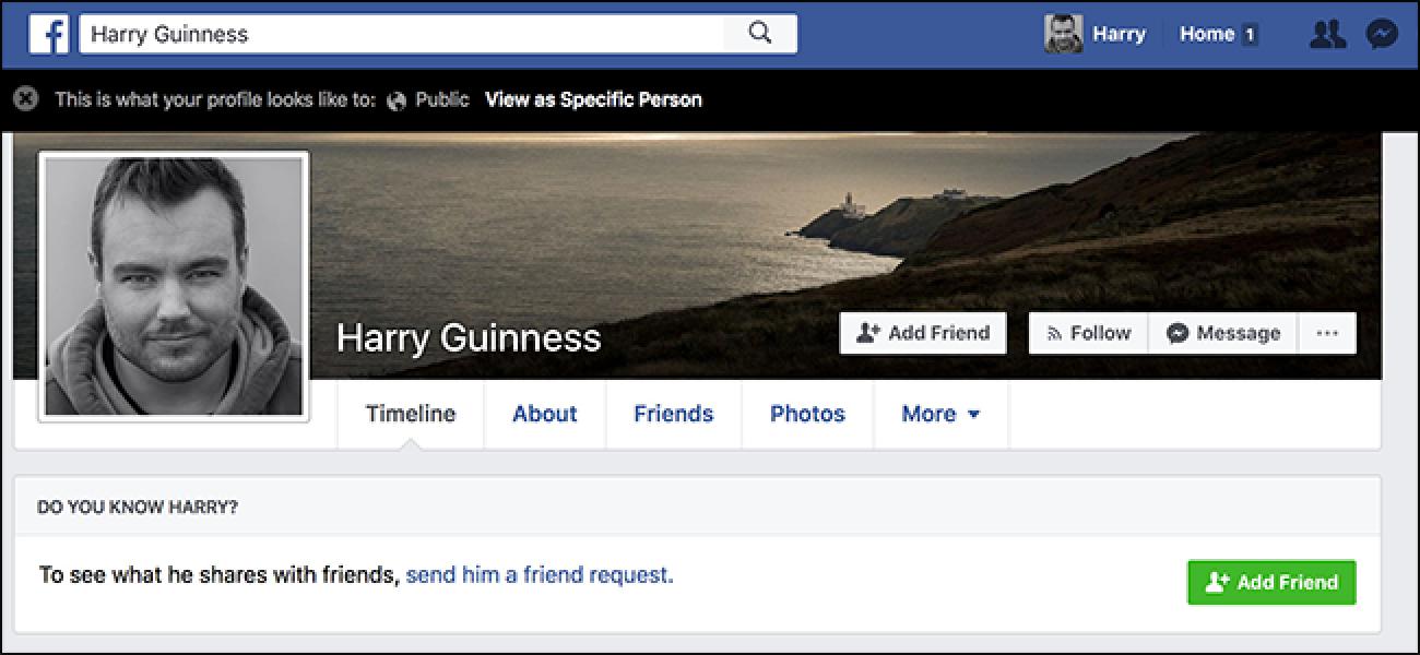 Nola ikusi zure Facebook Orria norbaiten gisa