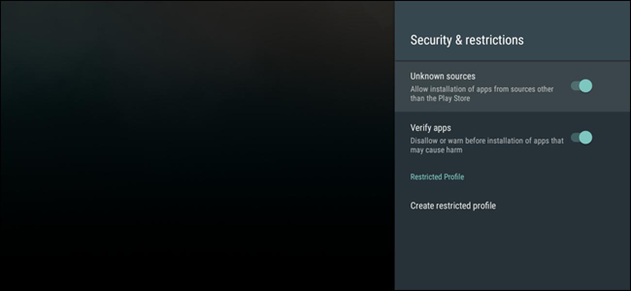 Nola Sideload aplikazioak Android TV-n