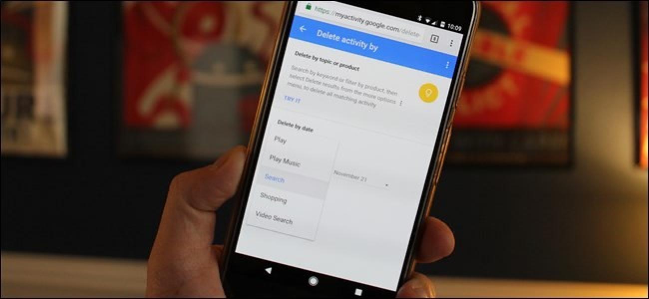 Nola garbitu Google Bilaketaren historia Android-en