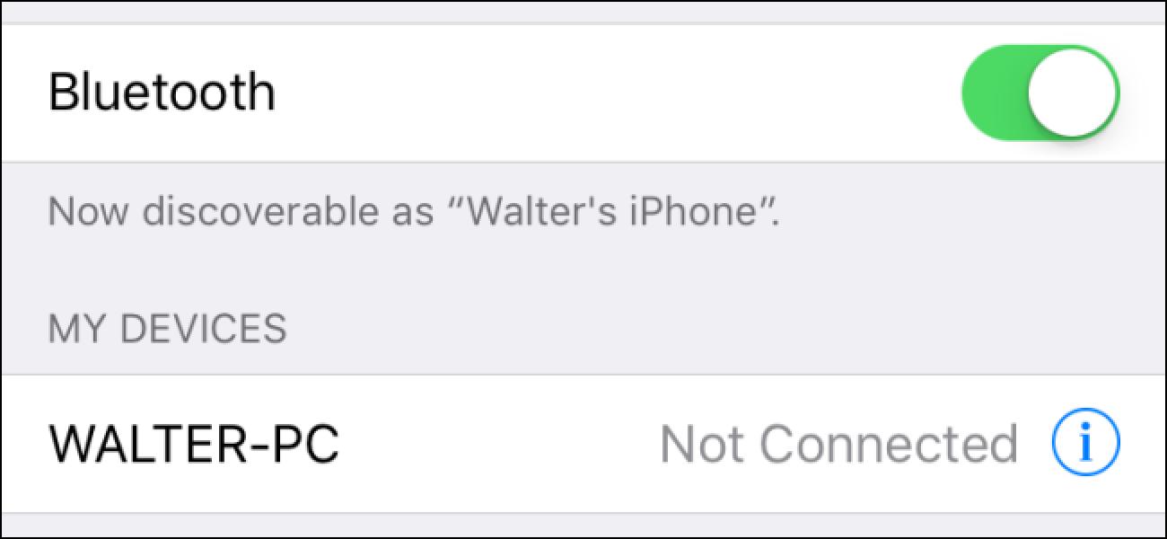 Nola konpondu Bluetooth arazoak zure iPhone edo iPad-en