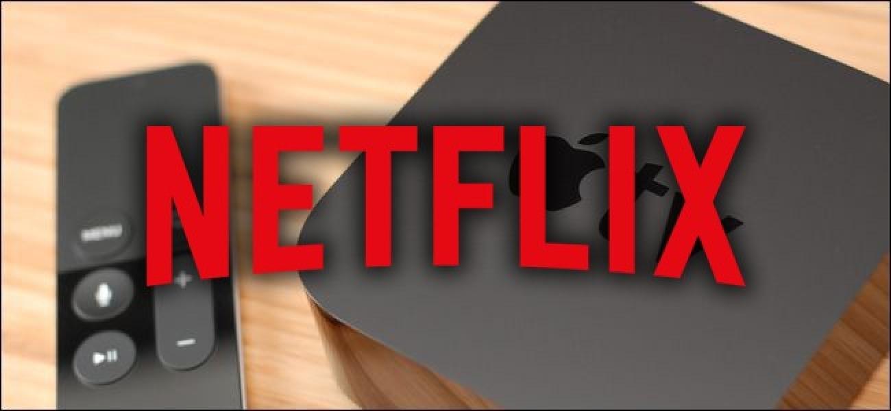 Nola konpondu Netflix arazoak Apple TV 4 Pasahitza berrezarri ondoren