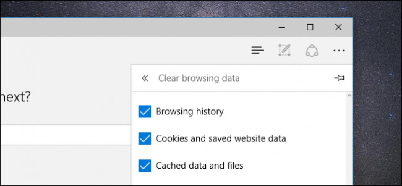 Nola garbitu zure arakatze historia Microsoft Edge-n