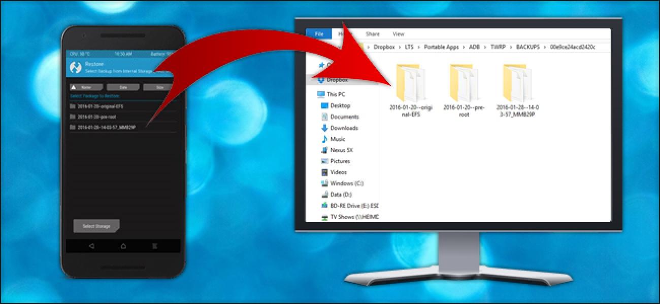 Nola kopiatu TWRP Android Backups zure ordenagailuan gordetze segurua lortzeko