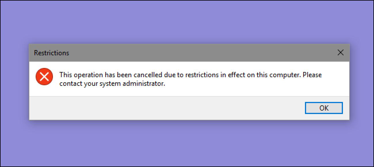Nola blokeatu aplikazioa edo .EXE exekutatzea Windows