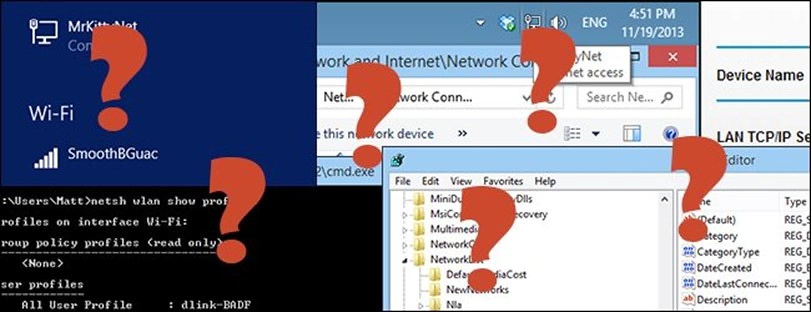 """Nola """"ahaztu"""" sare kable (edo haririk gabeko) sarea Windows 8.1"""