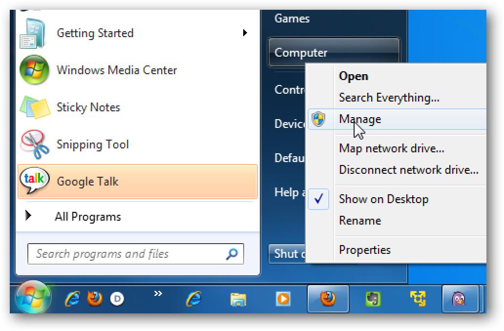 Erabiltzaile lokalak eta taldeak erabiltzea Erabiltzailearen pasahitzak kudeatzeko Windows 7