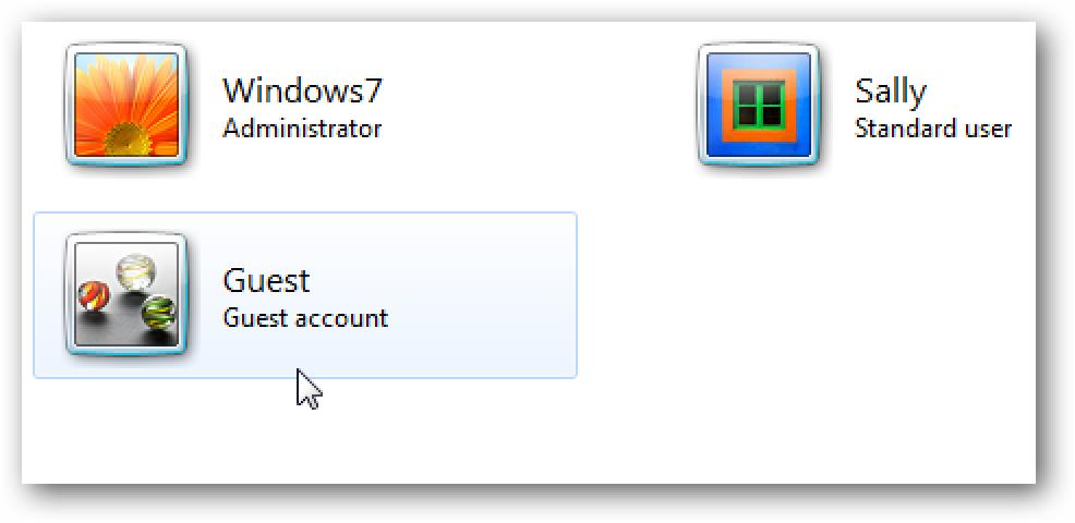 Aldatu izena gonbidatuaren kontuan Windows 7  Segurtasun Hobetua