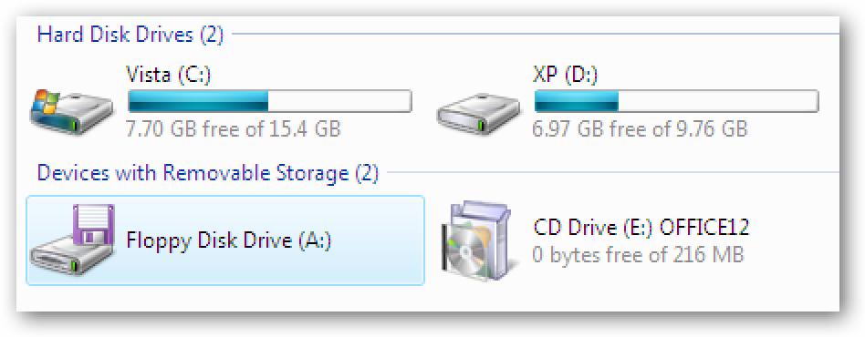 Ezkutatu ordenagailuan ordenagailuak Windows 7  edo Vista
