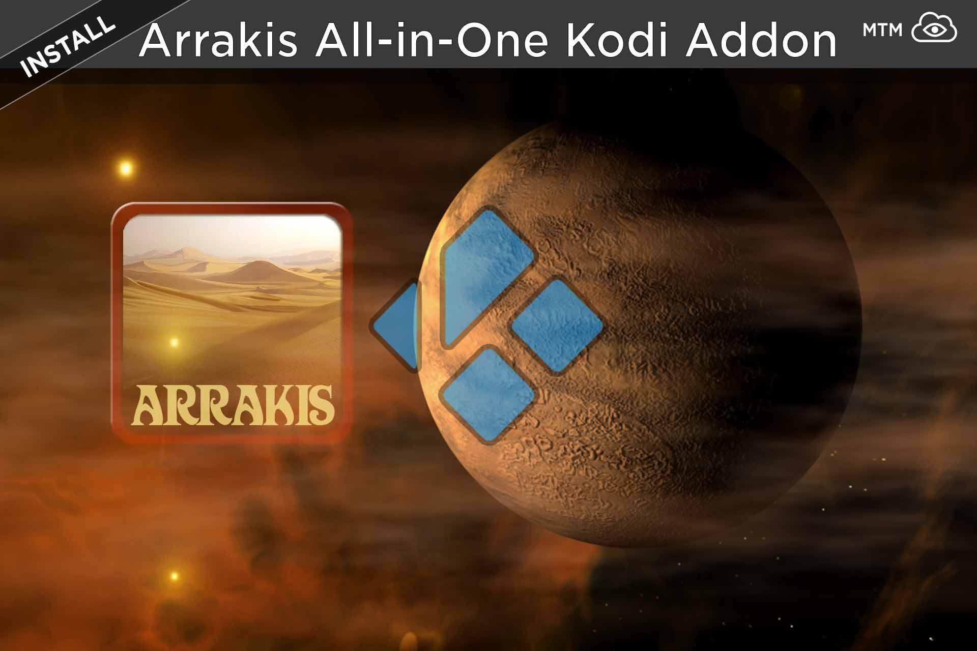 Nola instalatu Arrakis-en-One Kodi Addon