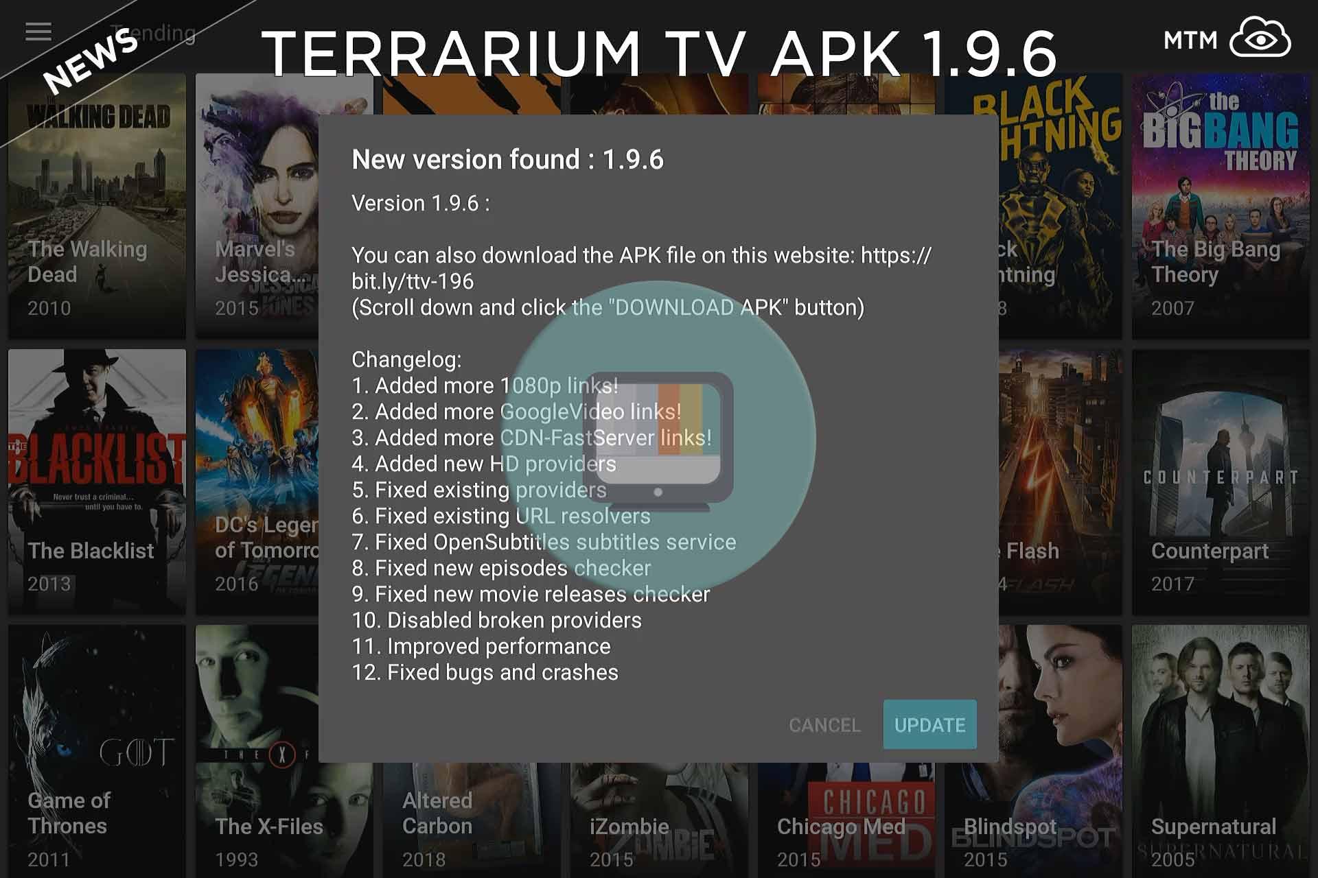 Terrario telebista 1.9.6 APK Eguneratutako aplikazioa eguneratua apirilean 3