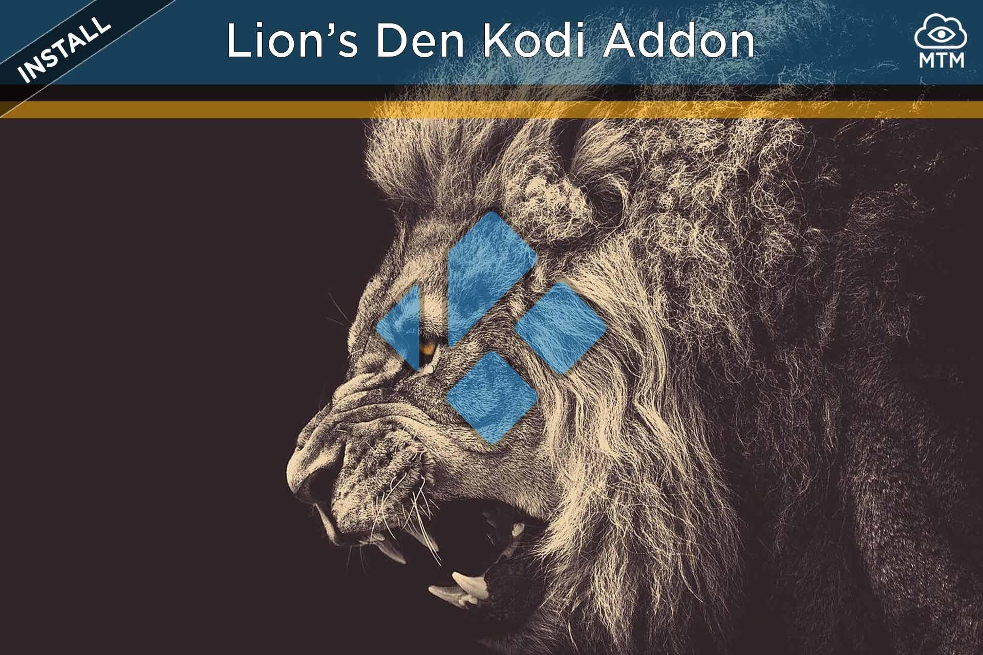 Lions Den Kodi Addon instalatu