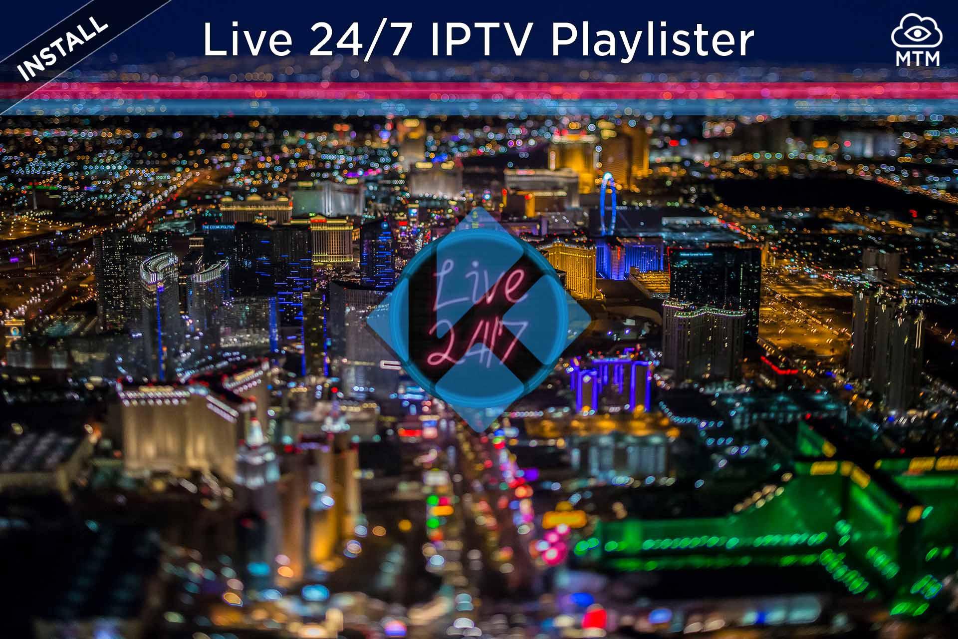 Free IPTV Live 24 / dituzten kanalak7 Kodi Playlist Addon