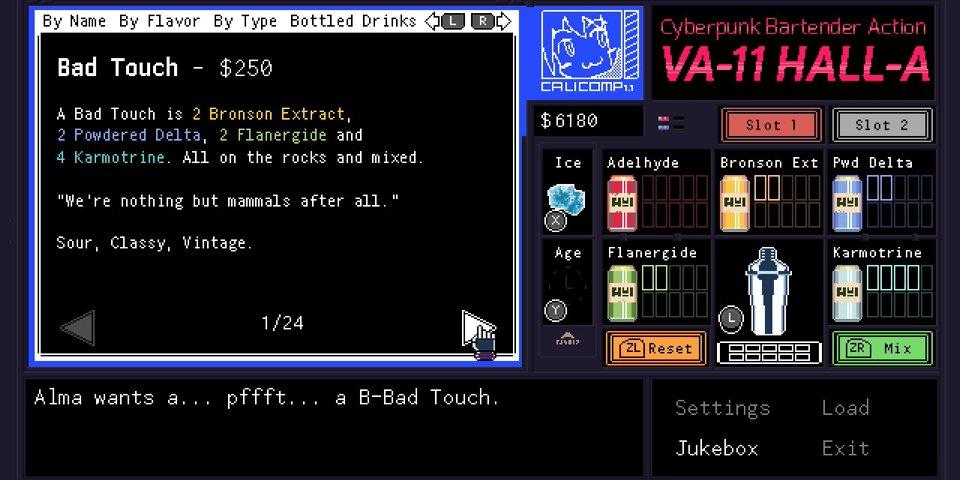 VA-11 areto-A: Cyberpunk Bartender Ekintzaren Berrikuspena 2