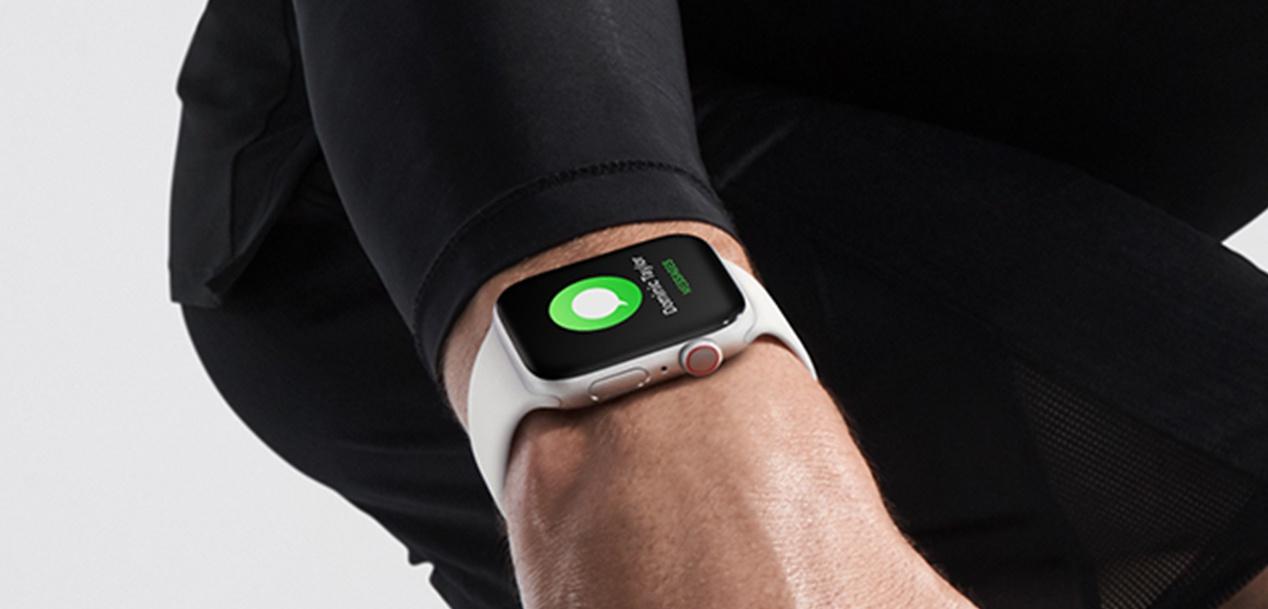 Hurrengoa Apple Watch hatz markako irakurgailua izan dezake pantailan