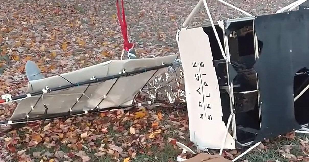 Satelite batek familia lorategi batean izorratzen da eta porrot egin du Samsung esperimentua izan zela