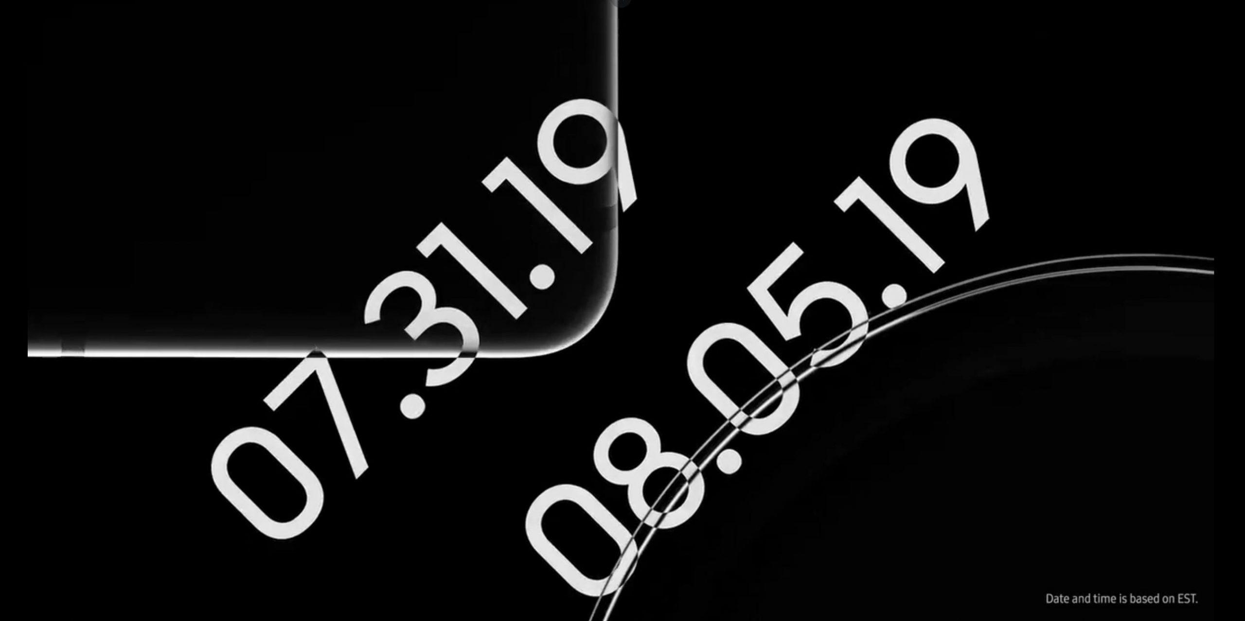 Samsung-ek bi produktu hauek aurkeztuko ditu aurretik Galaxy 10. oharra