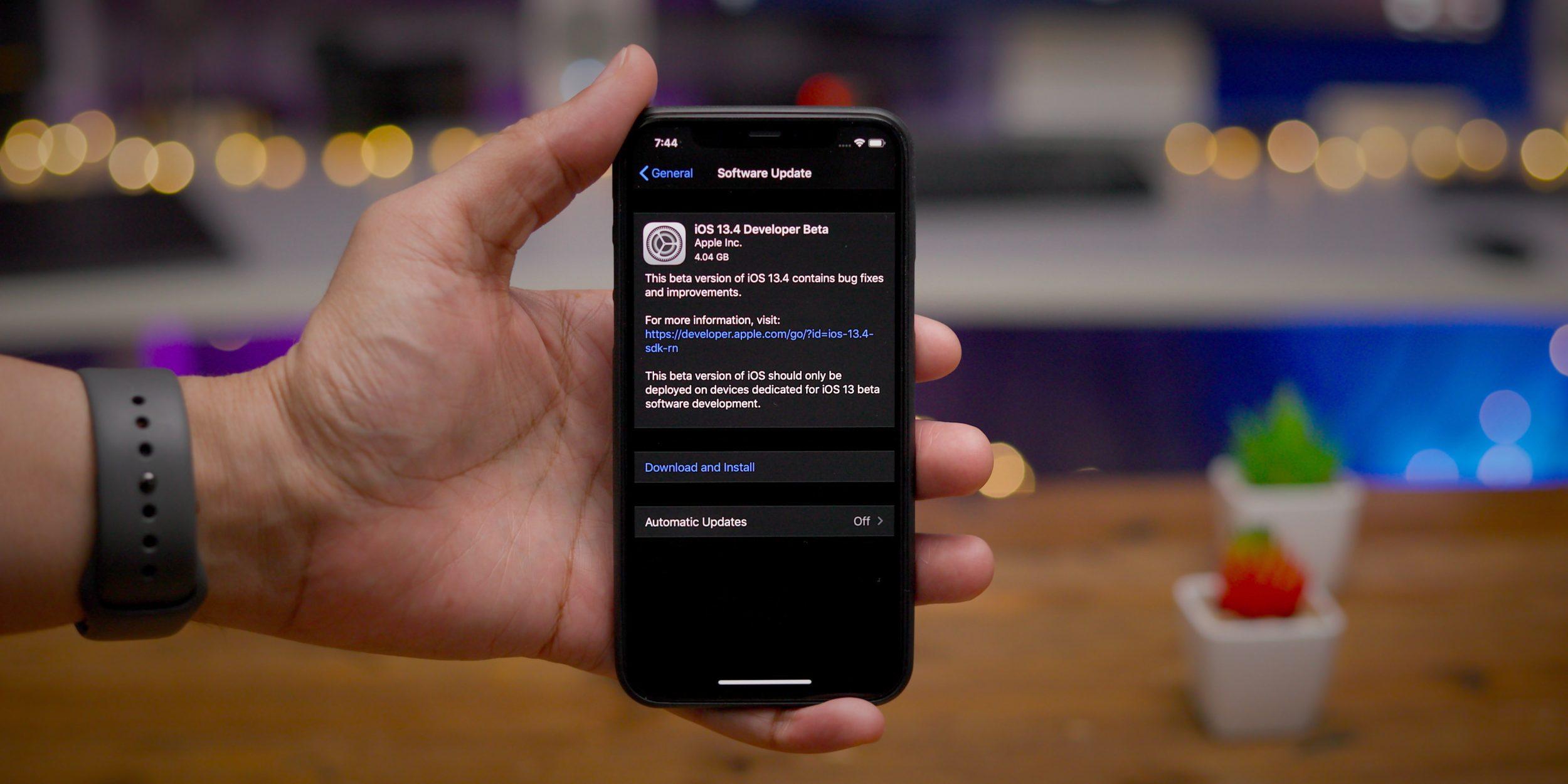 iOS 13.4 Beta 4 eguneratzea kaleratu!