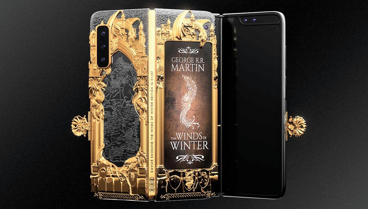 Caviar's hartzen Aurrez aginduak Galaxy Fold  Game of Thrones Edition