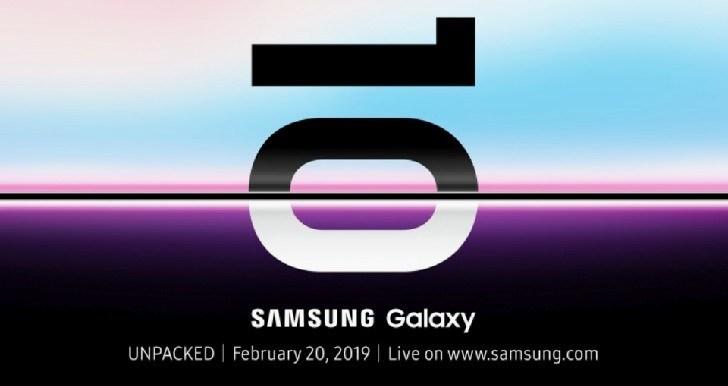 Samsung-ek ofizialki aurkeztuko du Galaxy S10 Otsailaren 20an