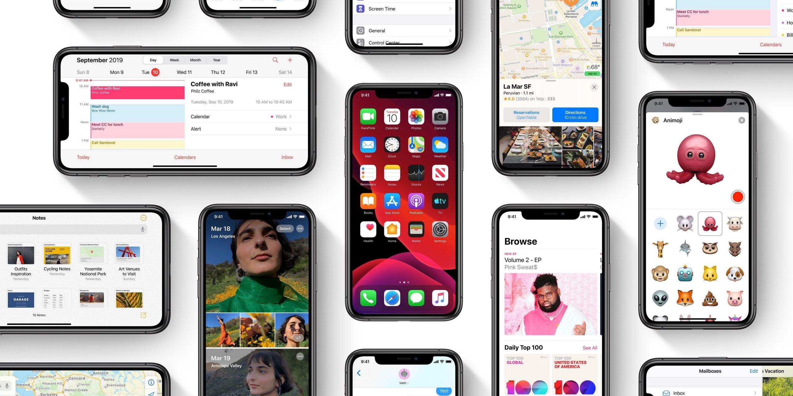 iOS 13 erabilera tasa azkar handitzen ari da!