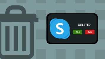 Zer gertatzen da kontu bat ezabatzean Skype Zure