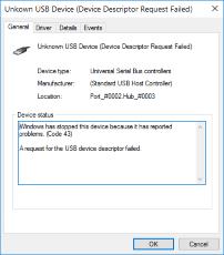8 43 errore kodea konpontzeko moduak Windows 10