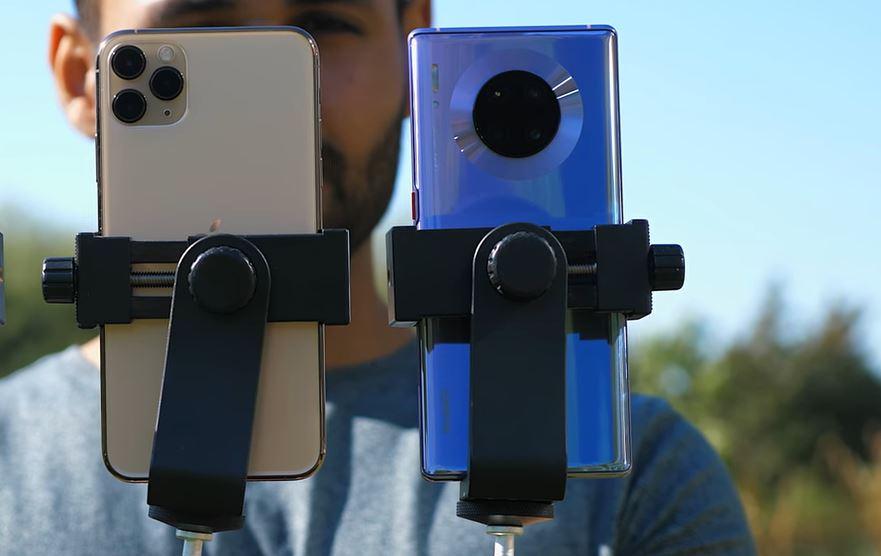 Huawei Mate 30 Pro eta iPhone 11 Pro kameraren konparazioa