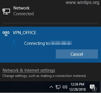 Konpondu - VPN ez da funtzionatzen Windows 10