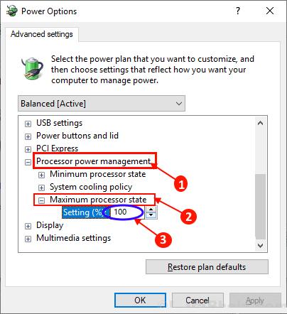 CPUak ez dira kapazitate osoz funtzionatzen Windows 10