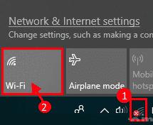 WiFi sarbide publikoko orrialdea ez da sistema eragilean agertzen Windows 10