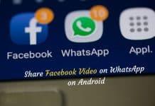 Bideoa nola partekatu Facebook WhatsApp Android-en