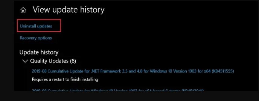 Windows 10 Eguneratu ondoren, Windows 10 eguneratu KB4512941. Nola konpondu ...