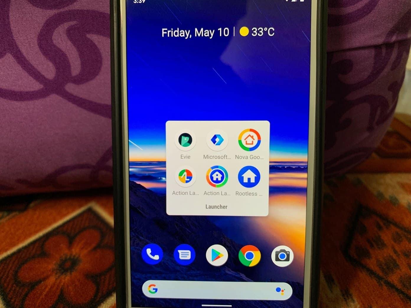 Onena 3 Android abiarazleak Google Feeds integraziorako laguntzarekin