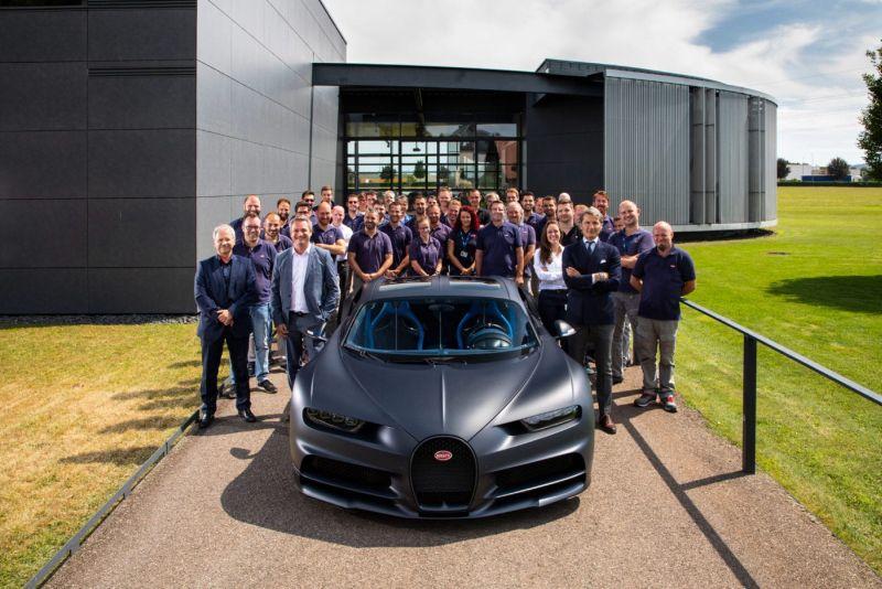 Horrela sortu zen 200. Bugatti Chiron produkzio lineatik!
