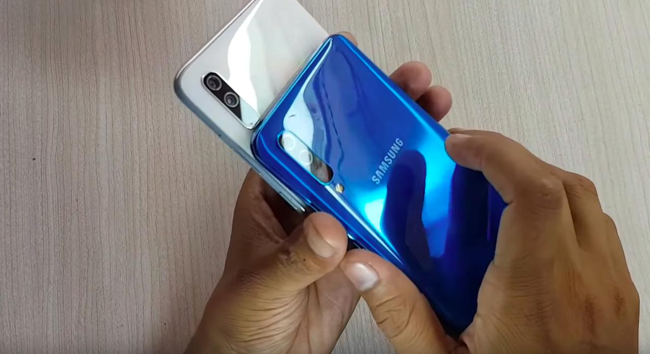 Galaxy A50 vs Galaxy A70 kameraren konparazioa