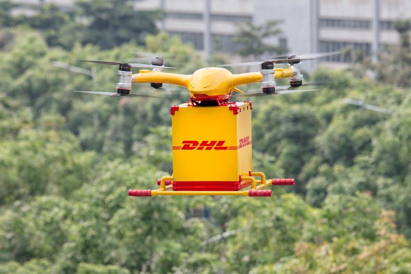 DHL Express-ek drone bidaltzeko zerbitzua jarri zuen abian